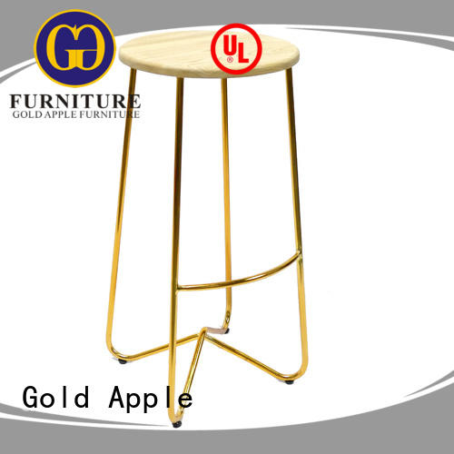 Gold Apple top-selling counter high bar stools upholstered restaurant