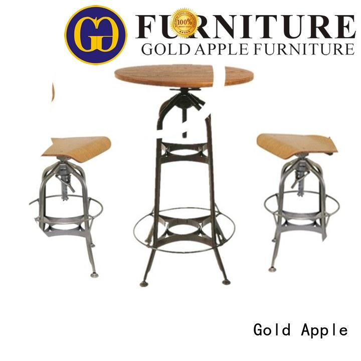 cutom counter height bar table set high-end coffee shop