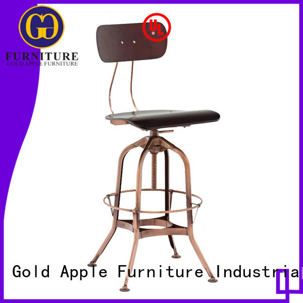 Factory Directly Adjustable Vintage Industrial Bar Metal Stool GA403BC-65STP