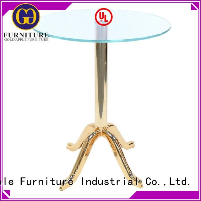 Gold Apple living room glass coffee table solid ash wood for wholesale