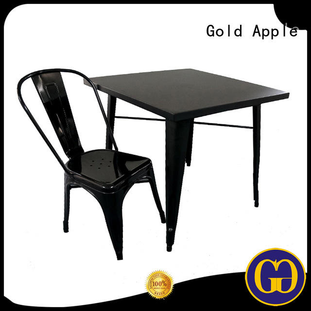 Gold Apple Brand dining furniture wood outdoor table and chair set