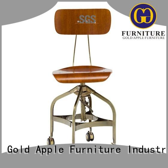 plywood wooden swivel bar stools high-end wooden seat for bar
