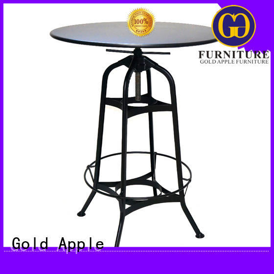 Gold Apple industrial kitchen bar table set wooden commercial furniture