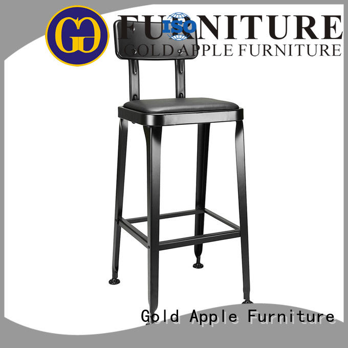 industrial saddle seat counter stool dinning room for restaurant Gold Apple