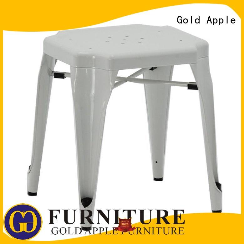high-quality outdoor swivel bar stools for coffee shop Gold Apple