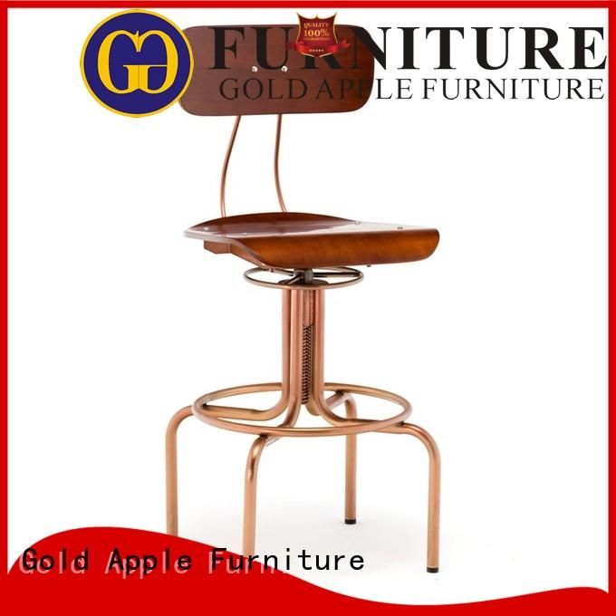 Gold Apple industrial elegant bar stools stackable adjustable height