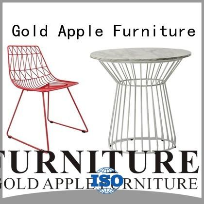 Gold Apple modern wood metal garden table and chairs