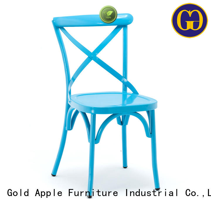 Gold Apple modern stackable office chairs french school student