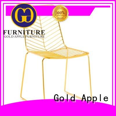 Gold Apple black stackable folding chairs french for restaurant
