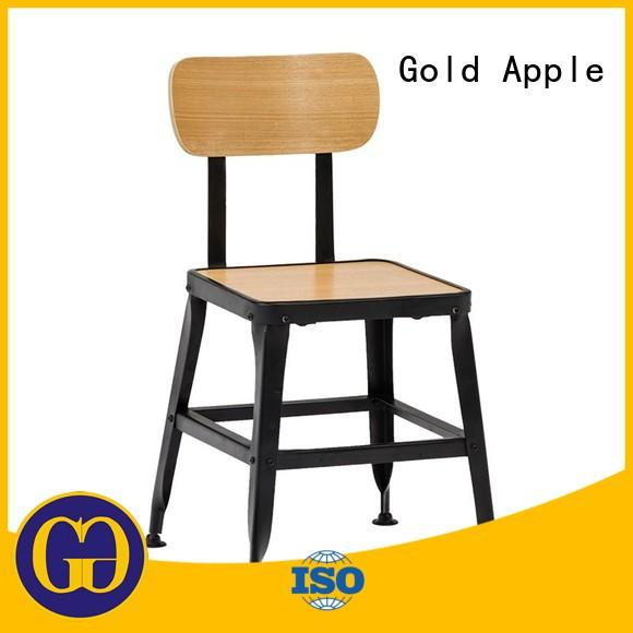Gold Apple garden metal folding bistro chairs dining chairs without armrest