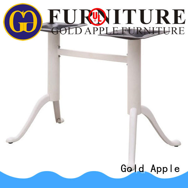 Gold Apple industrial metal table base for sale wholesale for school