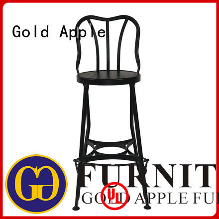 Gold Apple commercial white counter stools with backs antique style with armrest