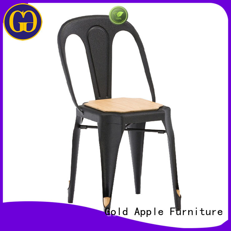 Gold Apple garden metal cafe chairs dining chairs shelf stack