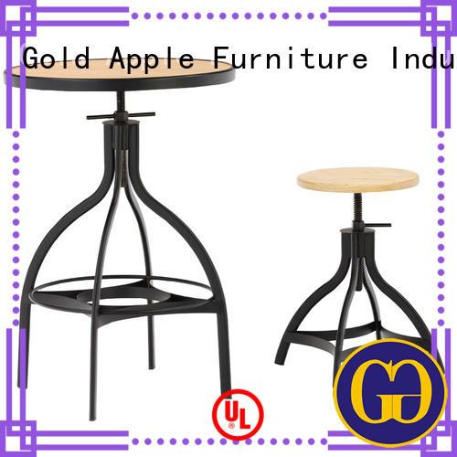 Gold Apple Brand modern affordable bar top table sets adjustable