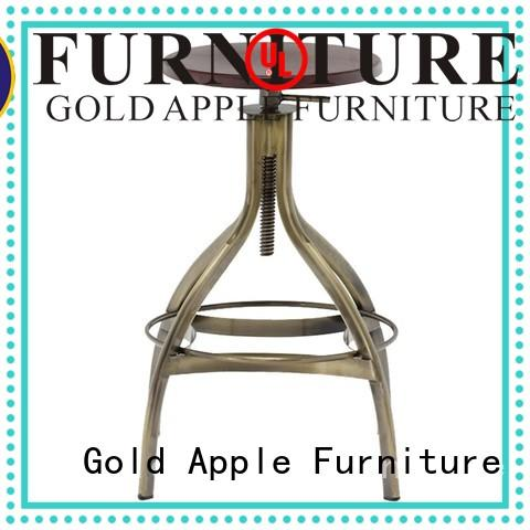Gold Apple industrial wood and metal counter stools dinning room bar furniture