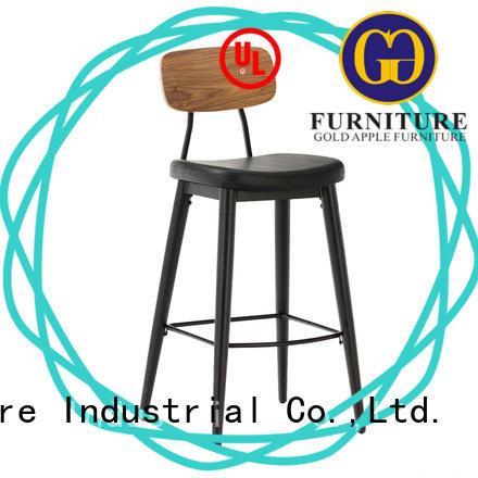 Gold Apple retro furniture upholstered swivel bar stools for cafe