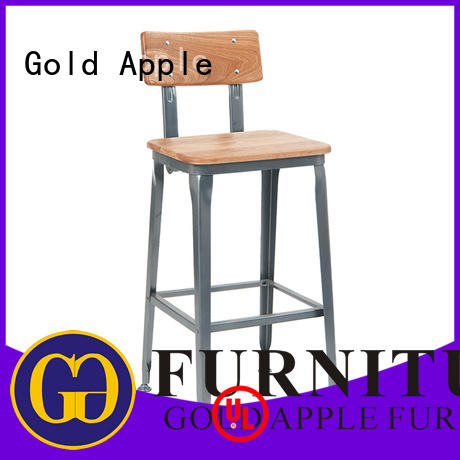 Gold Apple high-end 24 inch wooden bar stools wooden seat for kitchen
