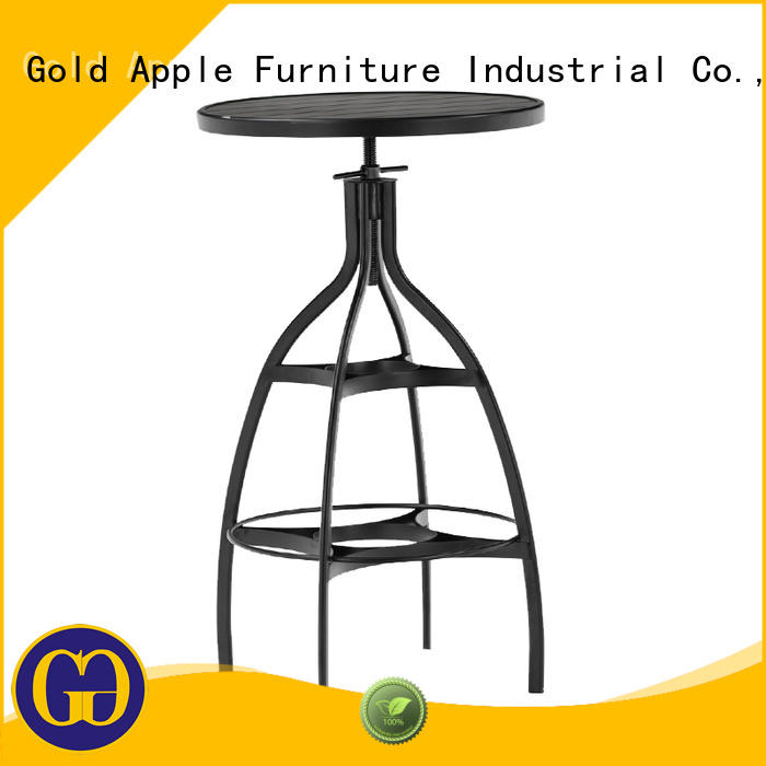 industrial commercial bar tables wooden commercial furniture Gold Apple