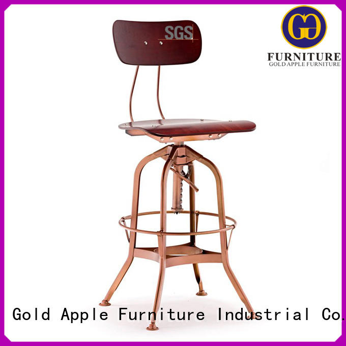 Gold Apple brown breakfast bar stools vintage restaurant
