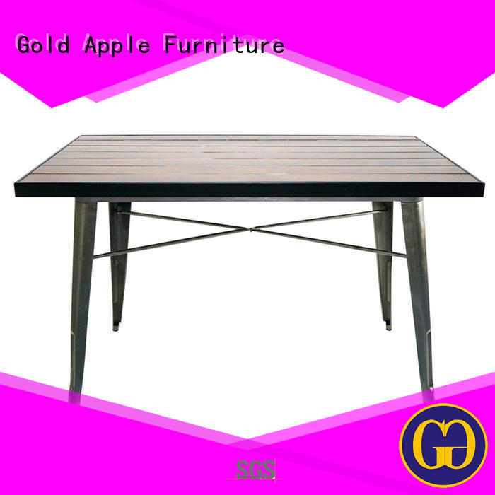 Gold Apple industrial outdoor garden table wood for dining room