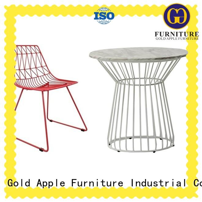 industrial garden furniture table and chairs high-quality Gold Apple