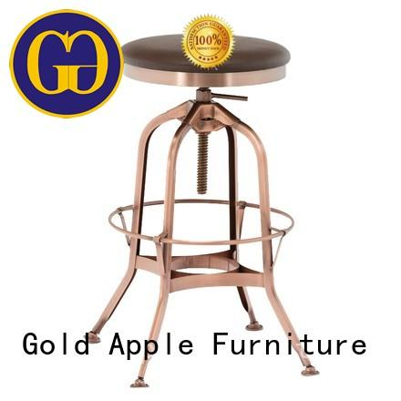 Gold Apple modern upholstered bar stools industrial for restaurant