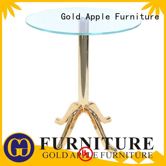 dark wood coffee table with glass top rectangle for wholesale Gold Apple