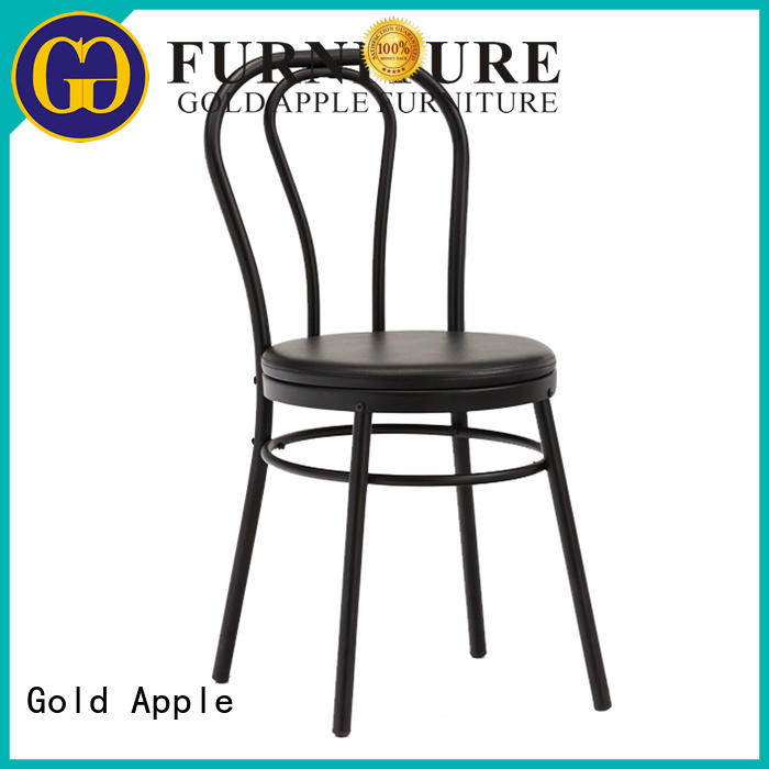 industrial leather and metal dining chairs dining chair home furniture Gold Apple