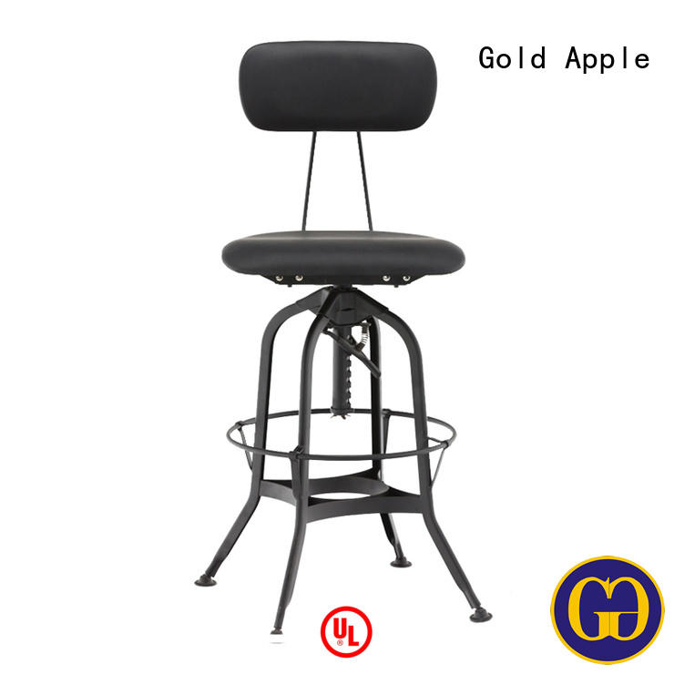 Guangzhou Bar Manufacturer High Quality Industrial Bar Stool with Back GA402C-65STP