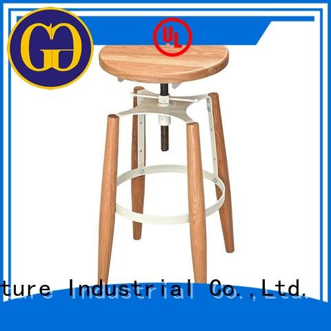 Gold Apple plywood wooden swivel bar stools adjustable for wholesale