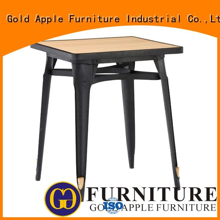 high-quality dark dining table steel frame for restaurant