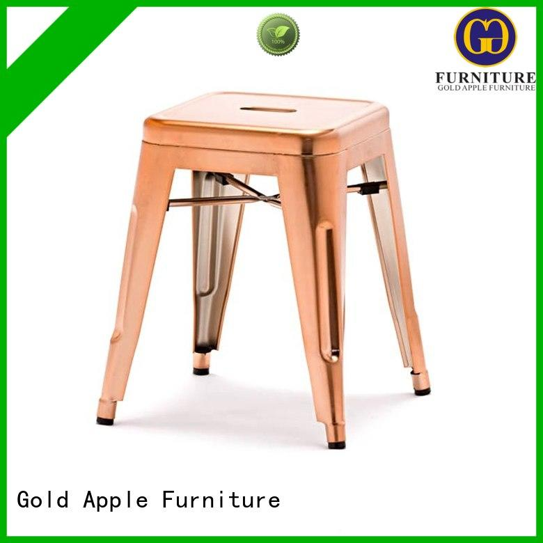 Gold Apple low price low stool fashion restaurant chairs