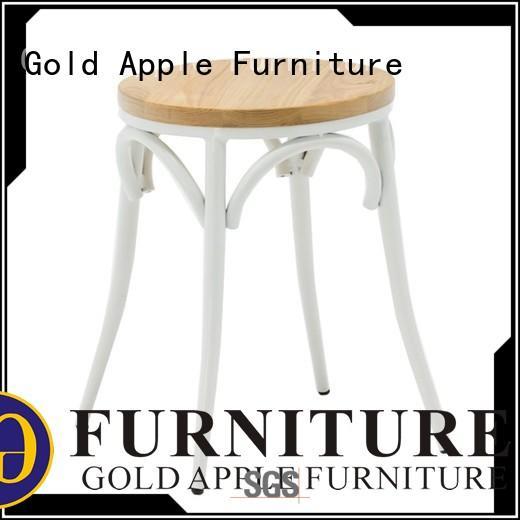 Gold Apple high-end wood stool seat elegant for bar