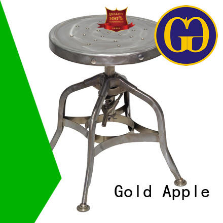 Gold Apple vintage bar height swivel stools modern for wholesale
