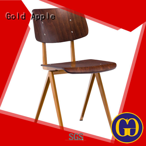 Gold Apple comfortable antique metal chairs rose gold without armrest