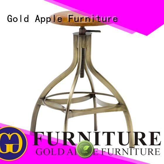 Gold Apple antique backless swivel bar stools retro for bar
