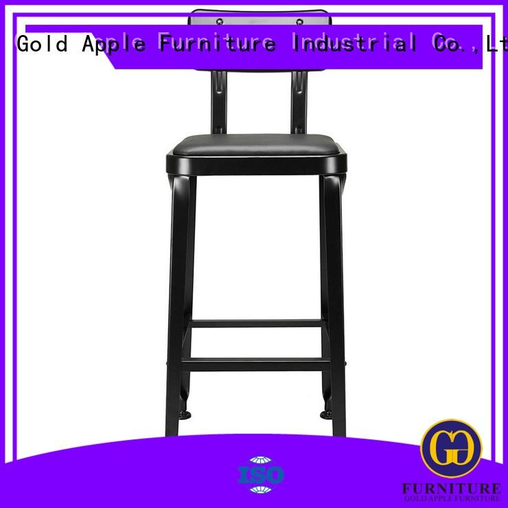 Gold Apple industrial high top bar stools stackable restaurant