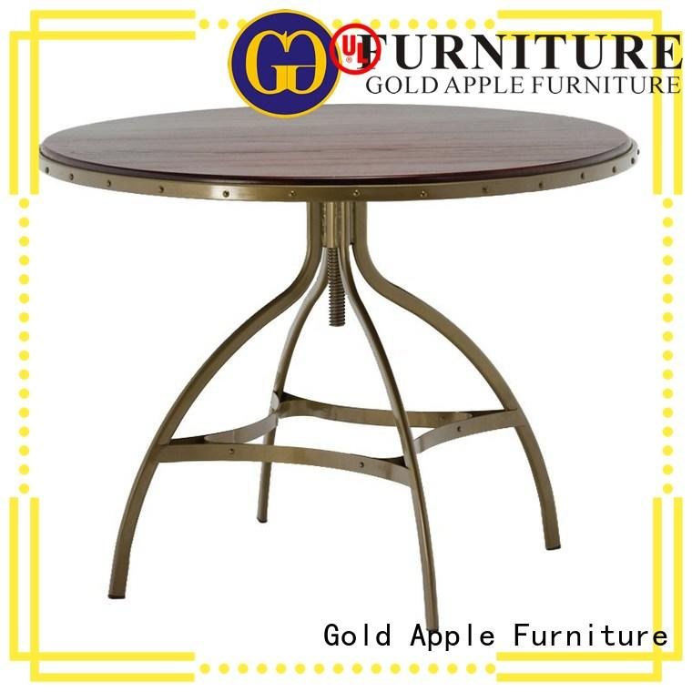 Gold Apple high-quality wood furniture dining table industrial for catering