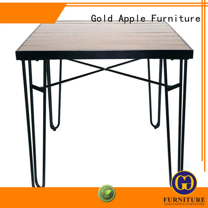 Gold Apple high-end wood furniture dining table for restaurant