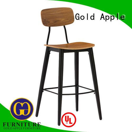 bar metal back wooden stool chair Gold Apple manufacture