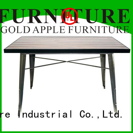 Gold Apple coffee shop outdoor garden table metal wire for dining room