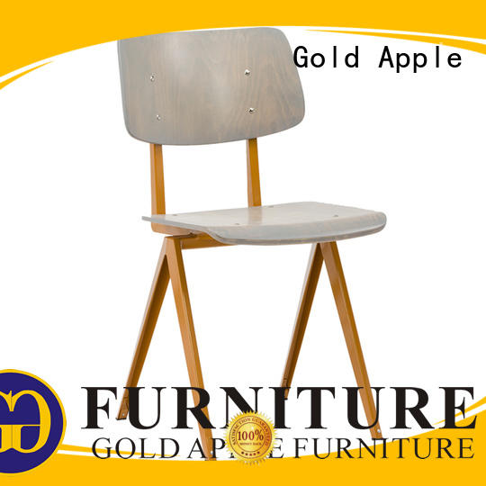 swivel large metal dining chairs plywood without armrest Gold Apple