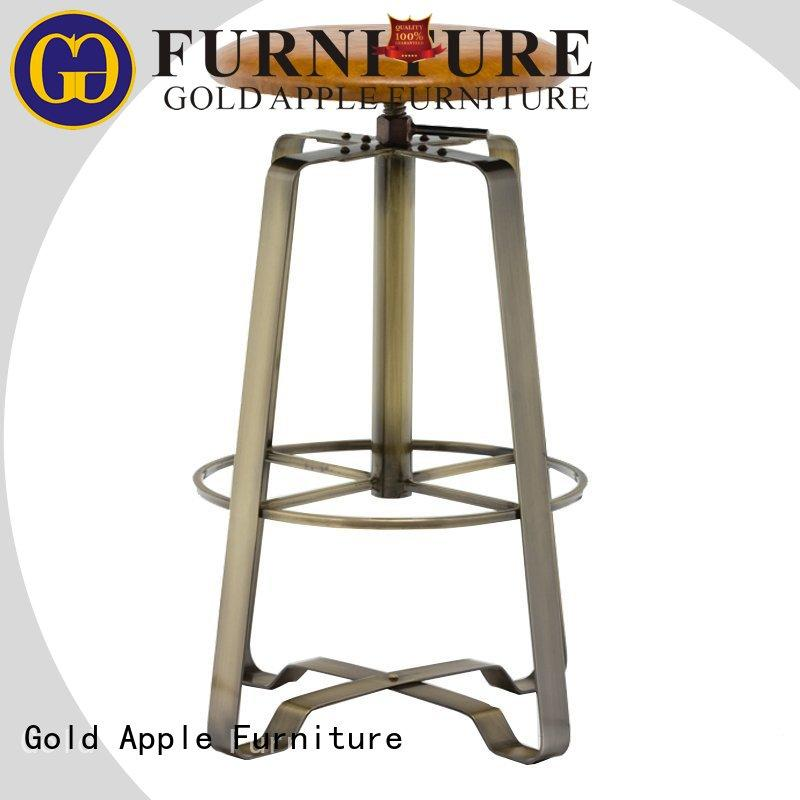 Gold Apple industrial upholstered swivel counter stools rose gold bar furniture