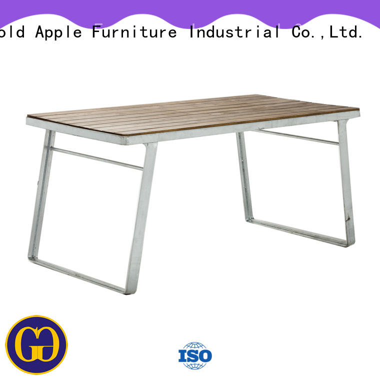 Gold Apple industrial patio tables on sale metal wire for garden