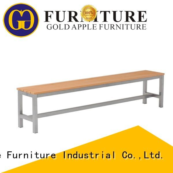 industrial patio benches for sale plastic metal-frame at discount