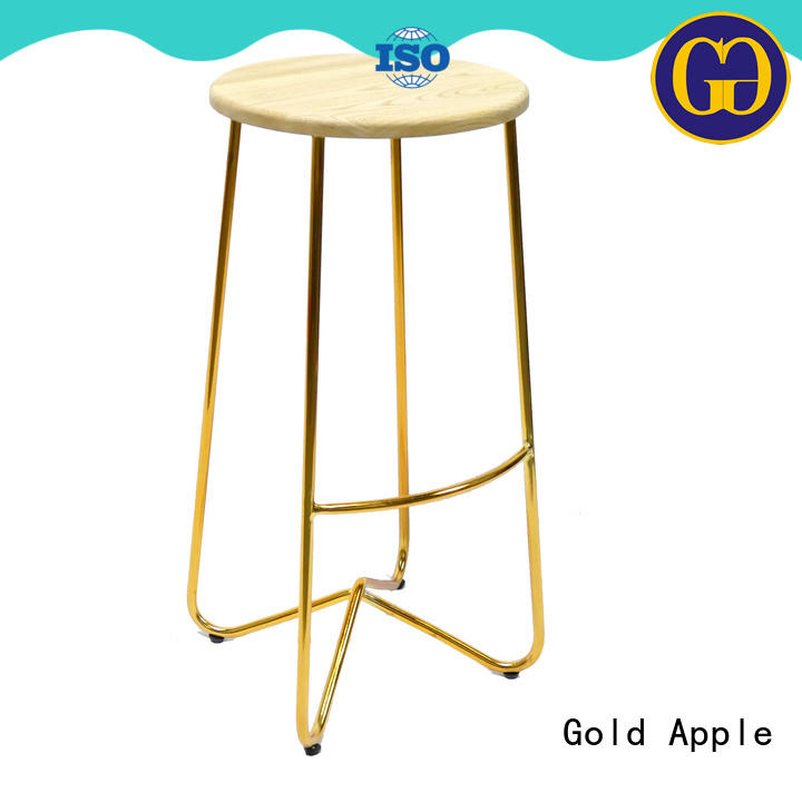 vintage leather bar height stools commercial dining room Gold Apple