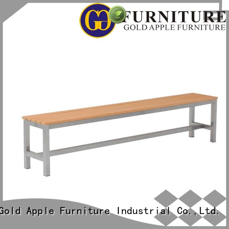 Gold Apple industrial outside patio bench free delivery