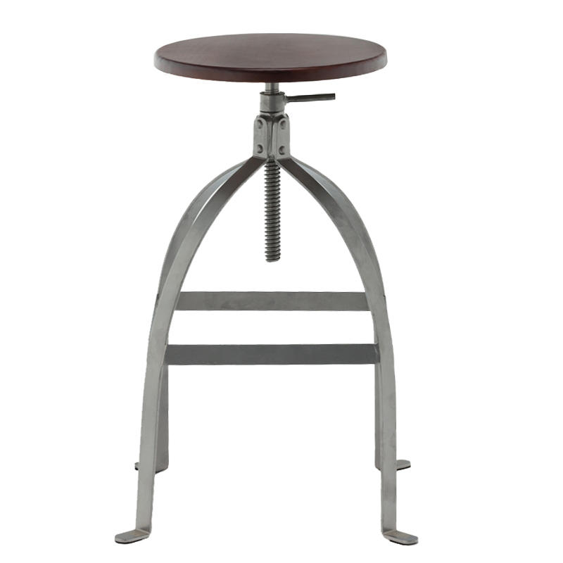 plywood wood and metal stools high-end elegant for bar-2