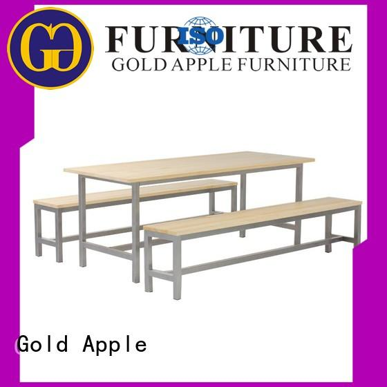Gold Apple long outdoor table and chair set adjustable height up to standard