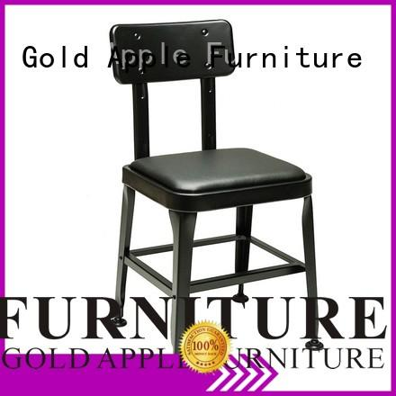 powder coating metal chairs with cushion industrial newest style home furniture